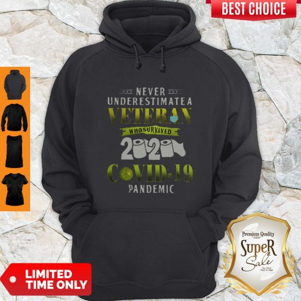 Never Underestimate A Veteran Who Survived 2020 Covid-19 Pandemic Hoodie