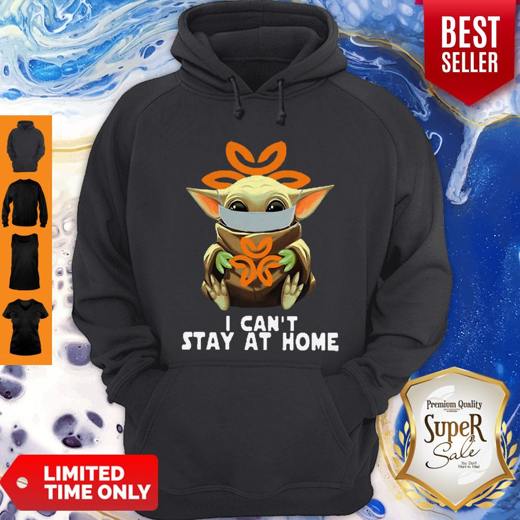 Awesome Baby Yoda Mask USPS I Can't Stay At Home Coronavirus Hoodie