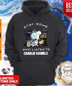 Nice Snoopy Woodstock Mask Stay Home And Listen To Charlie Daniels Hoodie