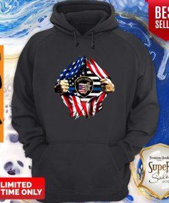 Official Deputy Sheriff Ohio Badge American Flag Hoodie