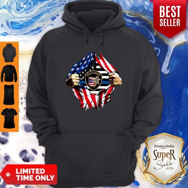 Official Deputy Sheriff Ohio Badge American Flag Hoodie