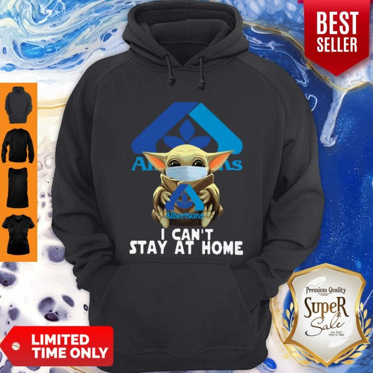 Nice Star Wars Baby Yoda Face Mask Hug Albertsons I Can't Stay At Home Hoodie