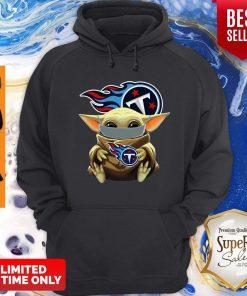 Good Star Wars Baby Yoda Face Mask Hug Tennessee Titans Hoodie