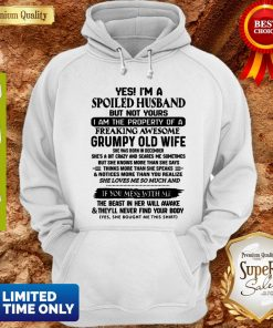 Funny Yes I'm A Spoiled Husband But Not Yours I Am The Property Of A Freaking Hoodie