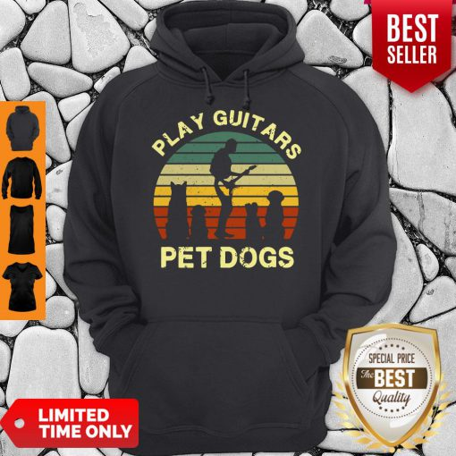 Top Play Guitars Player Pet Dogs Funny Gift For Dog Lovers Hoodie