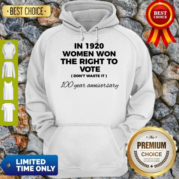 Womens In 1920 Women Won The Right To Vote Do Not Waste It Hoodie