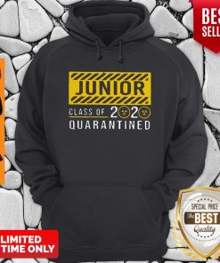 Funny Junior Class Of The Quarantined 2020 Sign Hoodie
