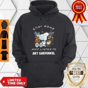 Awesome Snoopy Stay Home And Listen To Art Garfunkel Coronavirus Hoodie