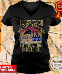 I Just Tool DNA Test Turns Out I'm 100% That Dodgers Girl Vintage V-neck