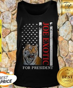 Joe Exotic Tiger King For President American Flag Tank Top - Design By Earstees.com
