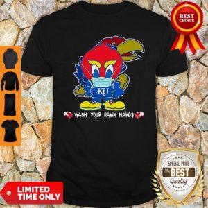 Kansas Jayhawks Wash Your Damn Hands COVID-19 Shirt