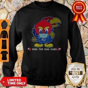 Kansas Jayhawks Wash Your Damn Hands COVID-19 Sweatshirt