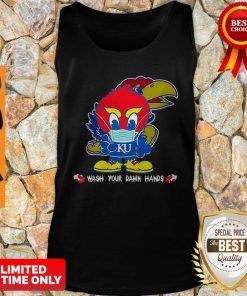 Kansas Jayhawks Wash Your Damn Hands COVID-19 Tank Top