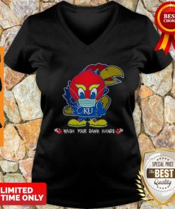 Kansas Jayhawks Wash Your Damn Hands COVID-19 V-neck