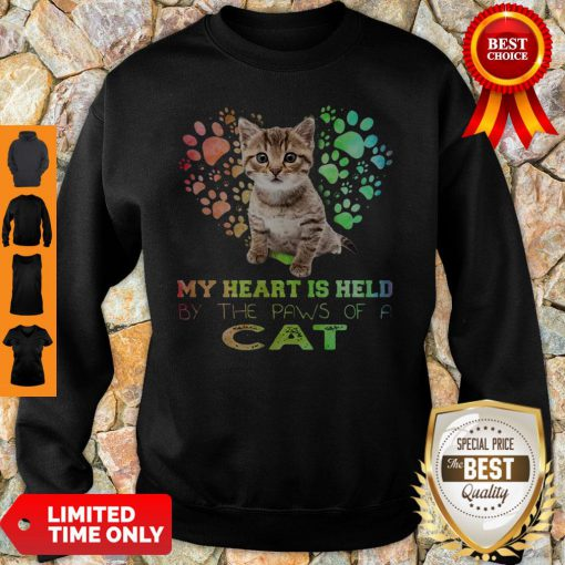My Heart Is Held By The Paws Of A Cat Sweatshirt