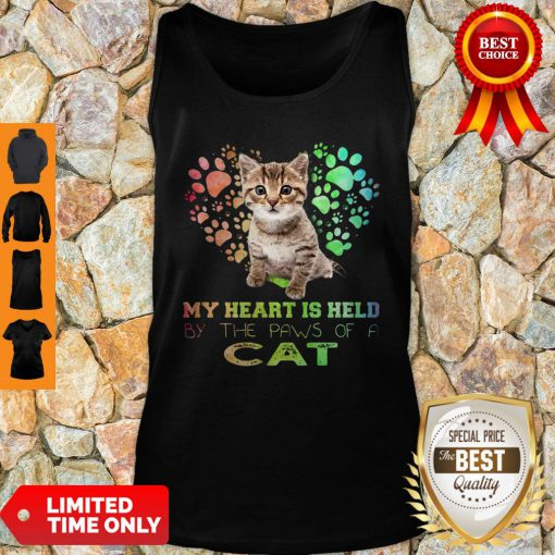 My Heart Is Held By The Paws Of A Cat Tank Top