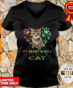 My Heart Is Held By The Paws Of A Cat V-neck