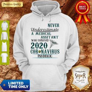 Never Underestimate A Medical Assistant Who Survived 2020 Coronavirus Hoodie