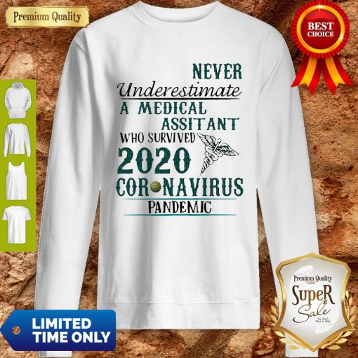Never Underestimate A Medical Assistant Who Survived 2020 Coronavirus Sweatshirt