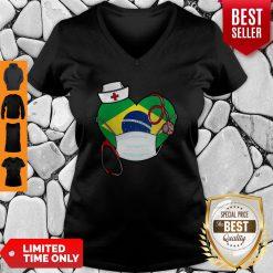 Nice Brazil Nurse Heart Stethoscope V-neck