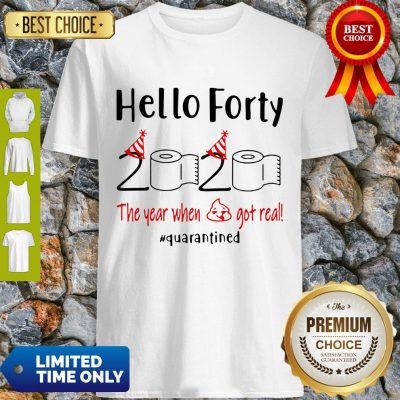 Nice Hello Forty 2020 The Year When Shirt
