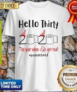 Nice Hello Thirty 2020 The Year When Shirt