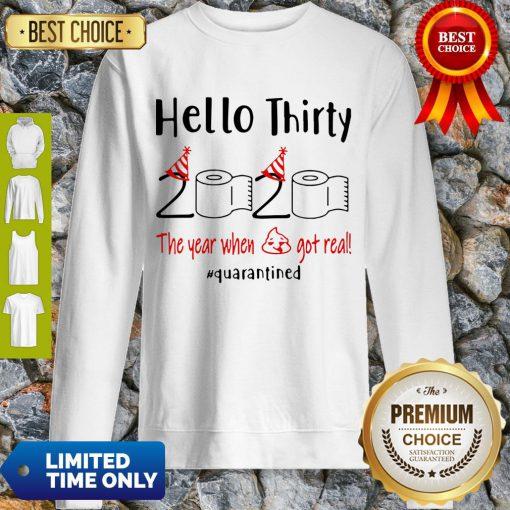 Nice Hello Thirty 2020 The Year When Sweatshirt