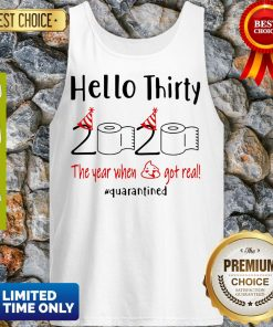 Nice Hello Thirty 2020 The Year When Tank Top