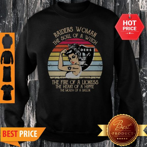 Oakland Raiders Woman The Soul Of A Witch Vintage Sweatshirt