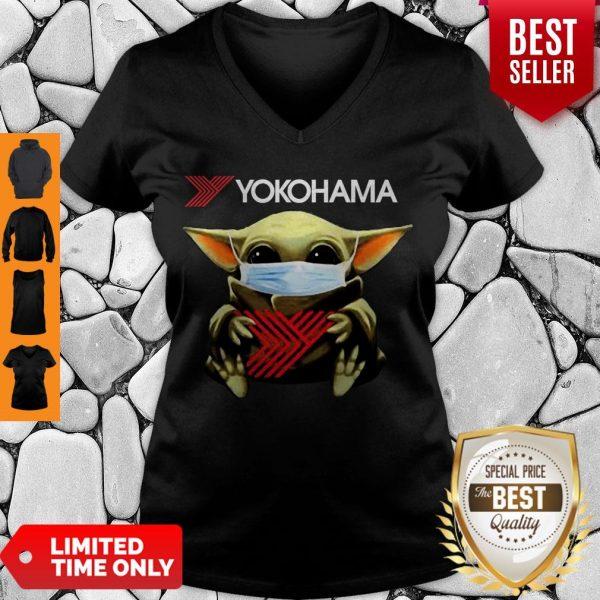 Official Baby Yoda Mask Yokohama Coronavirus V-neck