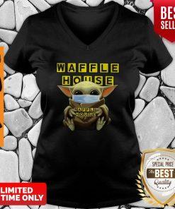 Official Baby Yoda Waffle House Coronavirus V-neck