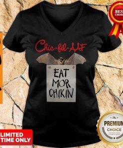 Official Chic Fil AAF Eat Mor Chikin Coronavirus V-neck