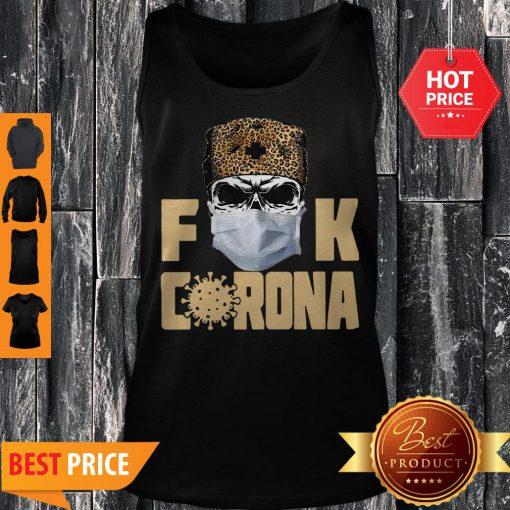 Official Leopard Skull Fuck Corona Tank Top