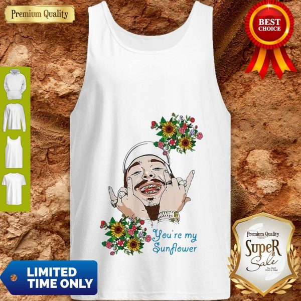 Post Malone You're My Sunflower Tank Top