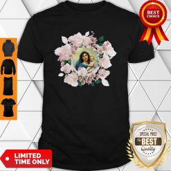Premium Blessed Mother Mary And Jesus Flowers Shirt - Design By Earstees.com