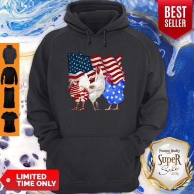Premium Chicken American Flag Hoodie - Design By Earstees.com