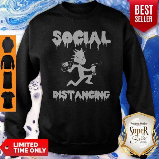 Rick And Morty Social Distancing Coronavirus Sweatshirt