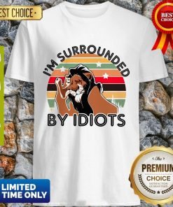 Scar I Am Surrounded By Idiots Vintage The Lion King Shirt