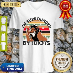 Scar I Am Surrounded By Idiots Vintage The Lion King V-neck
