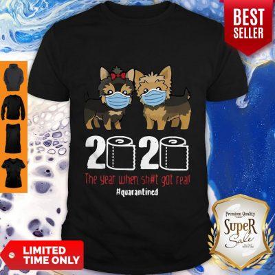 Premium Dogaholic Face Masks Toilet Paper 2020 The Year When Shit Got Real Quarantined Shirt