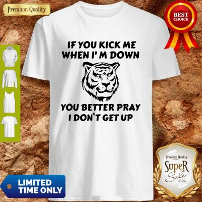 Top If You Kick Me When I Am Down You Better Pray I Don't Get Up Tiger Shirt