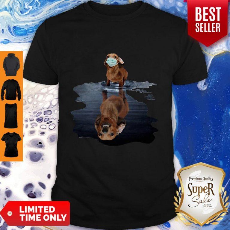 Good Dachshund Face Mask Water Reflection Dachshund Shirt