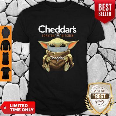 Awesome Baby Yoda Mask Cheddar's Scratch Kitchen Coronavirus Shirt