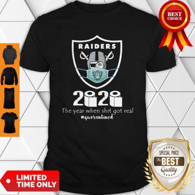 Awesome Mask Raiders 2020 The Year When Shit Got Real Shirt