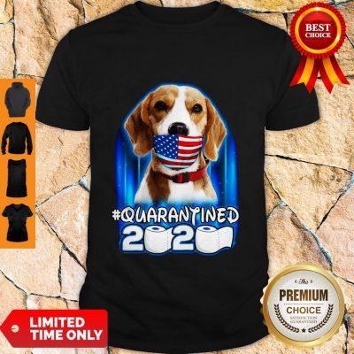 Funny Beagle Face Mask American Flag Quarantined 2020 Toilet Paper Shirt