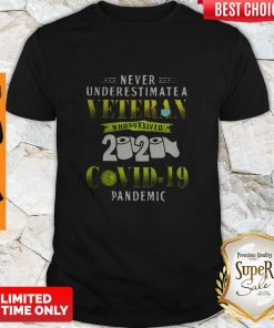 Never Underestimate A Veteran Who Survived 2020 Covid-19 Pandemic Shirt