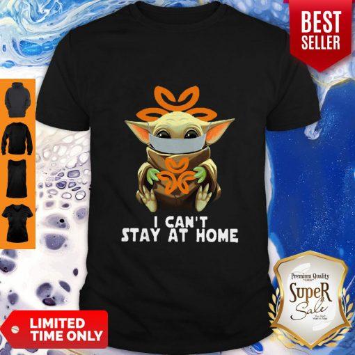Top Star Wars Baby Yoda Face Mask Hug Dignity Health I Can't Stay At Home Shirt