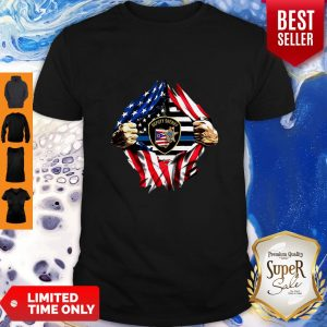 Official Deputy Sheriff Ohio Badge American Flag Shirt