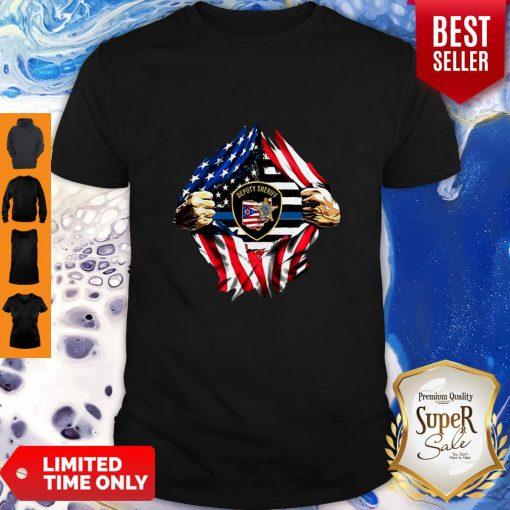 Official Deputy Sheriff Ohio Badge American Flag Shirt