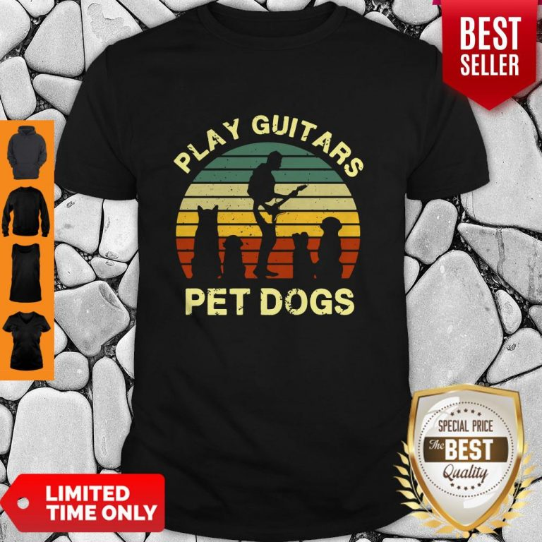 Top Play Guitars Player Pet Dogs Funny Gift For Dog Lovers Shirt